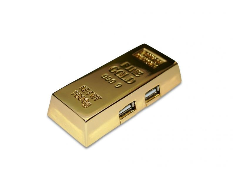 Goldbarren USB Hub