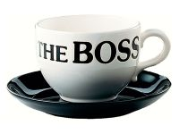 Jumbo Kaffeetasse mit Untertasse - The Boss